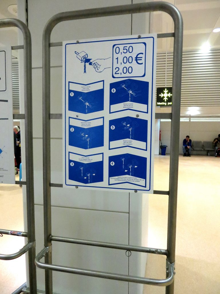 Airport luggage cart instructions- Italy from the Inside