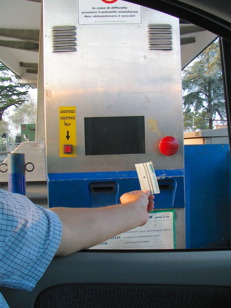 2. Italian highway ticket machine- Italy from the Inside