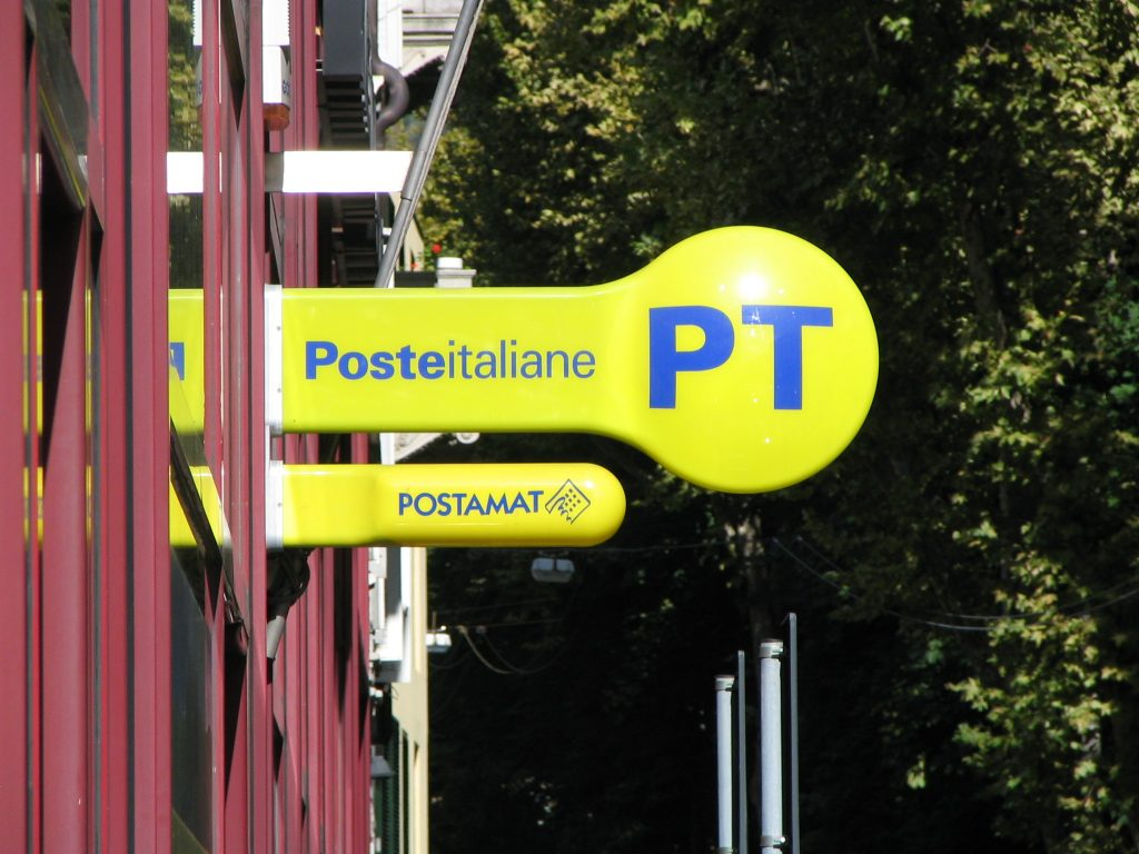 Italian post office sign- Italy from the Inside