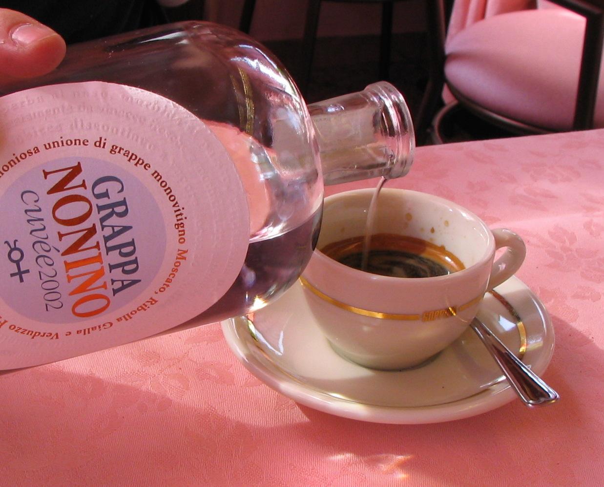Caffè corretto con grappa- Italy from the Inside