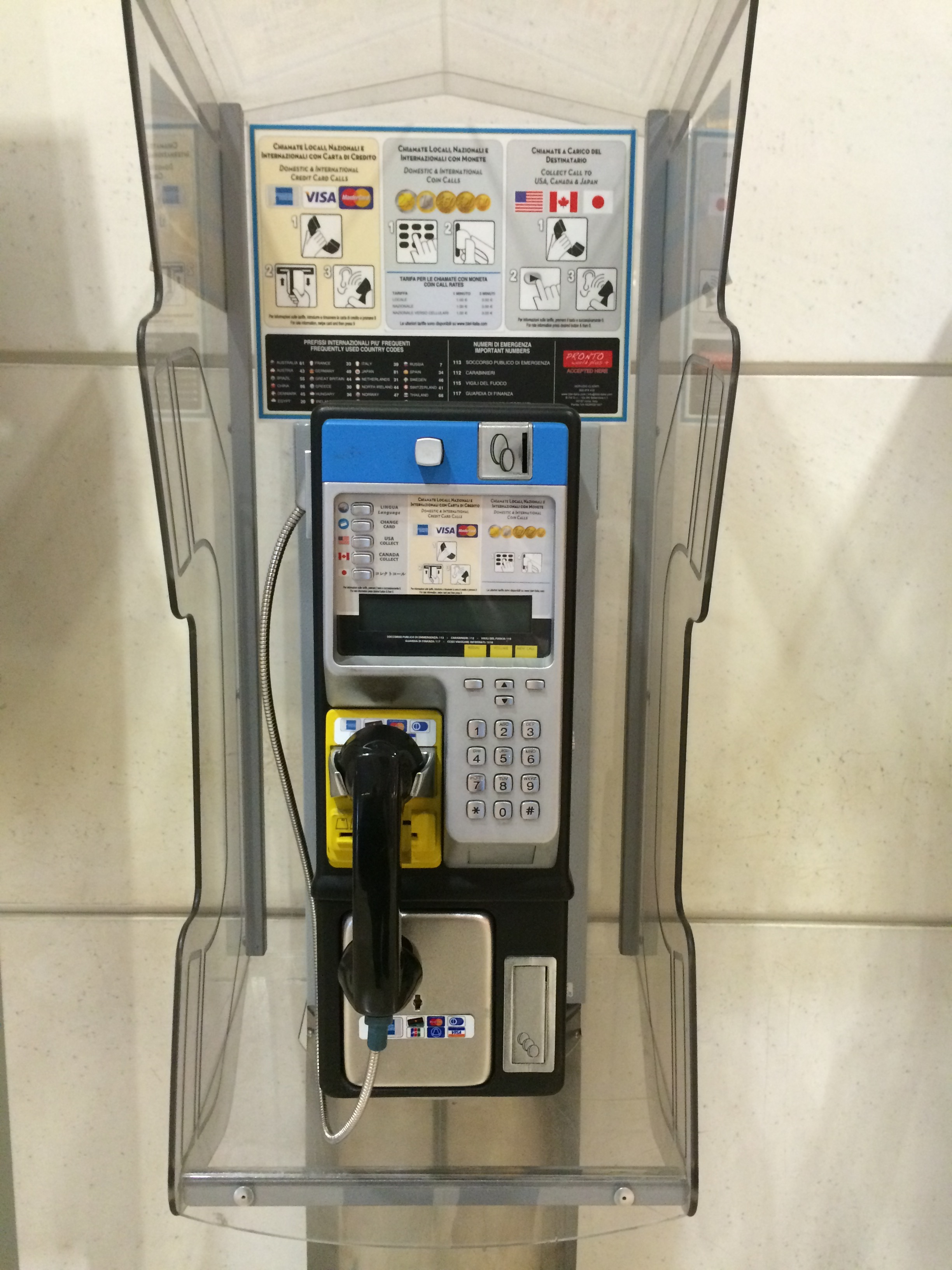 CC pay phone- Italy from the Inside