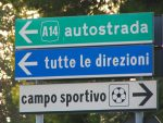 The colors of the Italian street signs