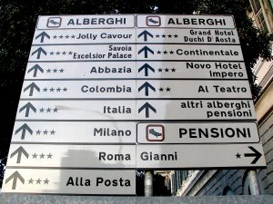 Italian street signs- Italy from the Inside