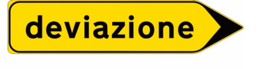 Italian detour sign- Italy from the Inside
