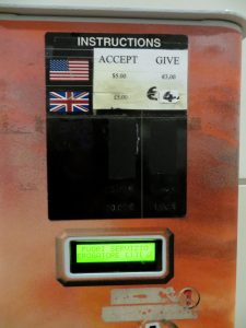 Exchange machine at the airport in Italy- Italy from the Insid