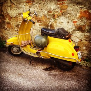 Yellow Vespa- Italy from the Inside